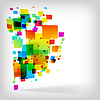 Vector clipart: the abstract square colorful background