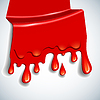 Vector clipart: the abstract blood background