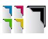 Vector clipart: Colored Corner Ribbon Set