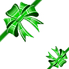 Vector clipart: Green bow