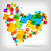 Vector clipart: the abstract heart colorful background