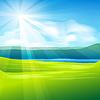 Vector clipart: summer landscape background