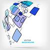 Векторный клипарт: Ретро Абстрактный дизайн шаблона Красочный площади