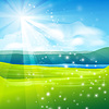 Vector clipart: abstract summer landscape background