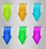 Vector clipart: Color Arrows Sticker Set