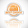 Vector clipart: Best Choice Golden Label on White Background