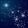 Vector clipart: abstract starry night sky