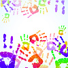 Vector clipart: Colorful Hand Prints Background