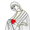 Vector clipart: Virgin Mary