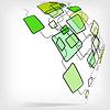 Vector clipart: Retro Abstract Design Colorful Square Template