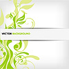 Vector clipart: abstract floral background with place for your text