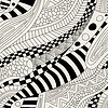 Vector clipart: Abstract zentangle doodle waves seamless pattern