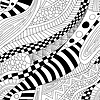Abstract zentangle doodle waves seamless pattern