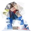 Многоцветный (синий, коричневый, желтый) шаблоны дизайна