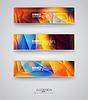 Набор баннеров с разноцветными Polygonal Мозаика