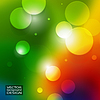 Vector clipart: Colour abstract blurred backgrounds with circle