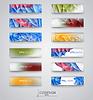 Цвет набор баннеров с полигональными абстрактных фигур