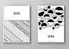 Set of abstract design templates