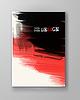 Векторный клипарт: Брошюра с красным и черным фоном краски