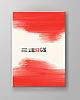 Векторный клипарт: гранж-красной краской мазки брошюру