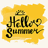 Watercolor watermelons and lettering hello summer | Stock Vector Graphics