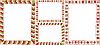 Vector clipart: Christmas strip border