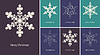 Vector clipart: Abstract snowflake on color background