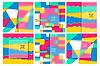 Vector clipart: Multicolor Design Templates