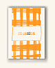 Vector clipart: Brochure with Orange Cell Backgrounds