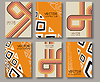 Vector clipart: Abstract ethnic pattern line textures
