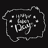 Happy Labours day inscription