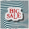Vector clipart: Big Sale flat label on green background