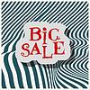 Векторный клипарт: Большая распродажа плоская этикетка на зеленом фоне