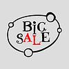Vector clipart: Big Sale flat label