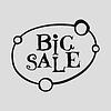 Векторный клипарт: Большая распродажа плоская этикетка