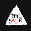 Vector clipart: big sale, handwritten text