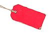 Roter Papier-Anhänger | Stock Foto