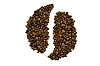 Photo 300 DPI: Ying Yang sign of coffee beans
