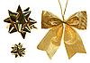 Photo 300 DPI: Golden Christmas decoration set