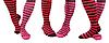 빨간 줄무늬 양말 | Stock Foto