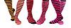 다채로운 줄무늬 양말 | Stock Foto