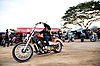 Photo 300 DPI: Biker on chopper