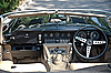 Jaguar E-Type Interior on Vintage Car Parade | Stock Foto