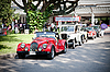 Cars row on Vintage Car Parade | Stock Foto