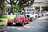 Autos hintereinander auf Oldtimer-Parade | Stock Photo