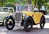 Austin 7 cabrio na Vintage samochód Parade | Stock Foto