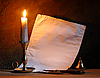Old paper and candle   Stock Foto