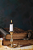 Świeca z książek | Stock Foto