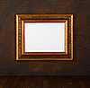 Old frame on the grunge wall | Stock Foto