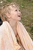 ID 3142009 | Dziecko w ręcznik | Foto stockowe wysokiej rozdzielczości | KLIPARTO